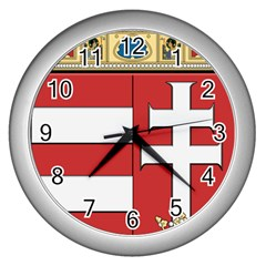 Medieval Coat of Arms of Hungary  Wall Clocks (Silver)