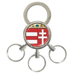 Medieval Coat of Arms of Hungary  3-Ring Key Chains