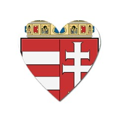 Medieval Coat of Arms of Hungary  Heart Magnet