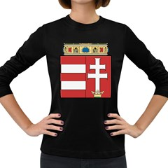 Medieval Coat of Arms of Hungary  Women s Long Sleeve Dark T-Shirts
