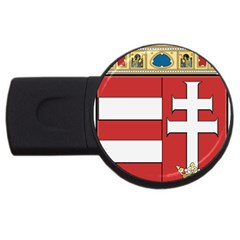 Medieval Coat of Arms of Hungary  USB Flash Drive Round (4 GB)