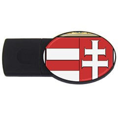 Medieval Coat of Arms of Hungary  USB Flash Drive Oval (4 GB)