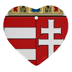 Medieval Coat of Arms of Hungary  Heart Ornament (Two Sides)