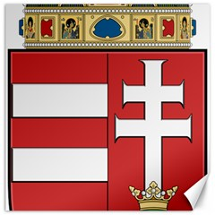 Medieval Coat of Arms of Hungary  Canvas 12  x 12