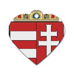 Medieval Coat of Arms of Hungary  Dog Tag Heart (One Side)
