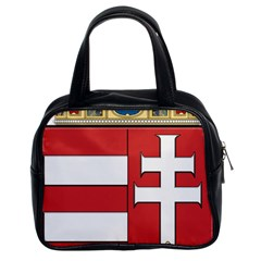 Medieval Coat of Arms of Hungary  Classic Handbags (2 Sides)
