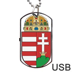 Medieval Coat of Arms of Hungary  Dog Tag USB Flash (Two Sides)