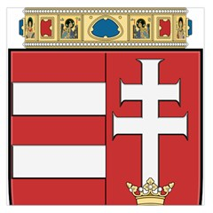 Medieval Coat of Arms of Hungary  Large Satin Scarf (Square)