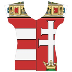 Medieval Coat of Arms of Hungary  Women s V-Neck Cap Sleeve Top