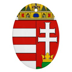 Medieval Coat of Arms of Hungary  Ornament (Oval)