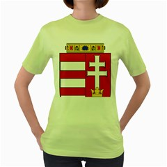 Medieval Coat of Arms of Hungary  Women s Green T-Shirt