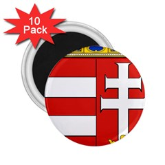 Medieval Coat of Arms of Hungary  2.25  Magnets (10 pack)