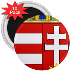 Medieval Coat of Arms of Hungary  3  Magnets (10 pack)