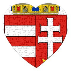 Medieval Coat of Arms of Hungary  Jigsaw Puzzle (Heart)