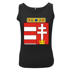 Medieval Coat of Arms of Hungary  Women s Black Tank Top