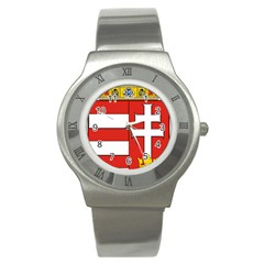 Medieval Coat of Arms of Hungary  Stainless Steel Watch