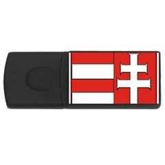 Medieval Coat of Arms of Hungary  USB Flash Drive Rectangular (4 GB)