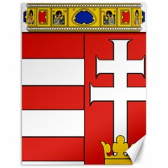 Medieval Coat of Arms of Hungary  Canvas 12  x 16