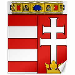 Medieval Coat of Arms of Hungary  Canvas 16  x 20