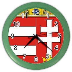 Medieval Coat Of Arms Of Hungary  Color Wall Clocks