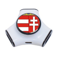 Medieval Coat of Arms of Hungary  3-Port USB Hub