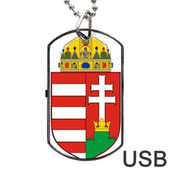 Medieval Coat of Arms of Hungary  Dog Tag USB Flash (One Side)