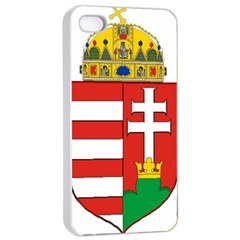 Medieval Coat of Arms of Hungary  Apple iPhone 4/4s Seamless Case (White)