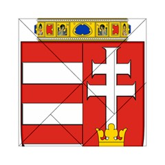 Medieval Coat of Arms of Hungary  Acrylic Tangram Puzzle (6  x 6 )