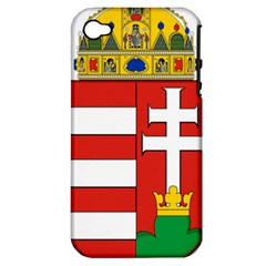 Medieval Coat of Arms of Hungary  Apple iPhone 4/4S Hardshell Case (PC+Silicone)
