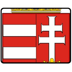Medieval Coat of Arms of Hungary  Double Sided Fleece Blanket (Medium)