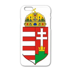 Medieval Coat of Arms of Hungary  Apple iPhone 6/6S White Enamel Case