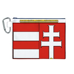 Medieval Coat of Arms of Hungary  Canvas Cosmetic Bag (L)