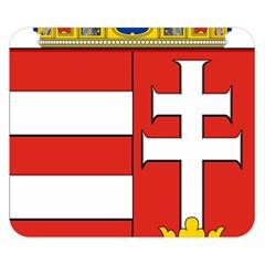 Medieval Coat of Arms of Hungary  Double Sided Flano Blanket (Small)
