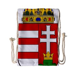 Medieval Coat of Arms of Hungary  Drawstring Bag (Small)
