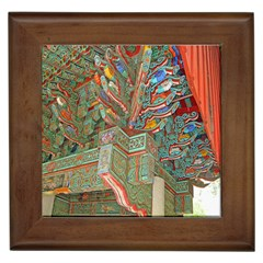 Traditional Korean Painted Paterns Framed Tiles