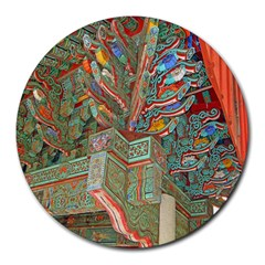 Traditional Korean Painted Paterns Round Mousepads