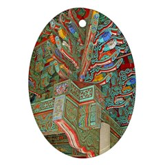 Traditional Korean Painted Paterns Ornament (Oval)