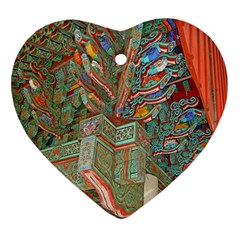 Traditional Korean Painted Paterns Ornament (Heart)