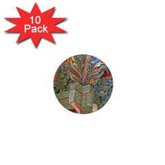 Traditional Korean Painted Paterns 1  Mini Magnet (10 pack)