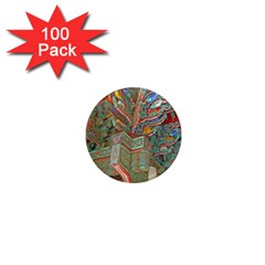 Traditional Korean Painted Paterns 1  Mini Magnets (100 pack)