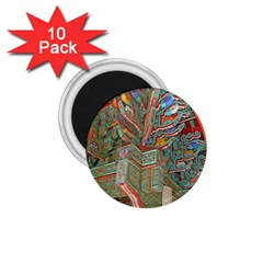 Traditional Korean Painted Paterns 1.75  Magnets (10 pack)