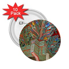 Traditional Korean Painted Paterns 2.25  Buttons (10 pack)