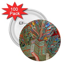 Traditional Korean Painted Paterns 2.25  Buttons (100 pack)