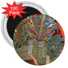 Traditional Korean Painted Paterns 3  Magnets (100 Pack)