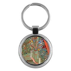 Traditional Korean Painted Paterns Key Chains (Round)