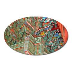 Traditional Korean Painted Paterns Oval Magnet