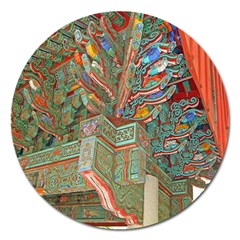 Traditional Korean Painted Paterns Magnet 5  (Round)