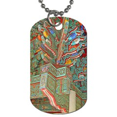 Traditional Korean Painted Paterns Dog Tag (One Side)