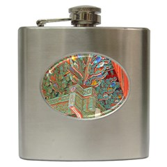 Traditional Korean Painted Paterns Hip Flask (6 oz)