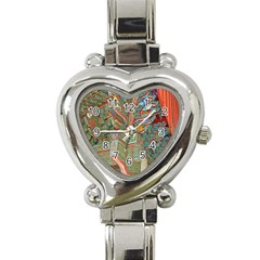 Traditional Korean Painted Paterns Heart Italian Charm Watch